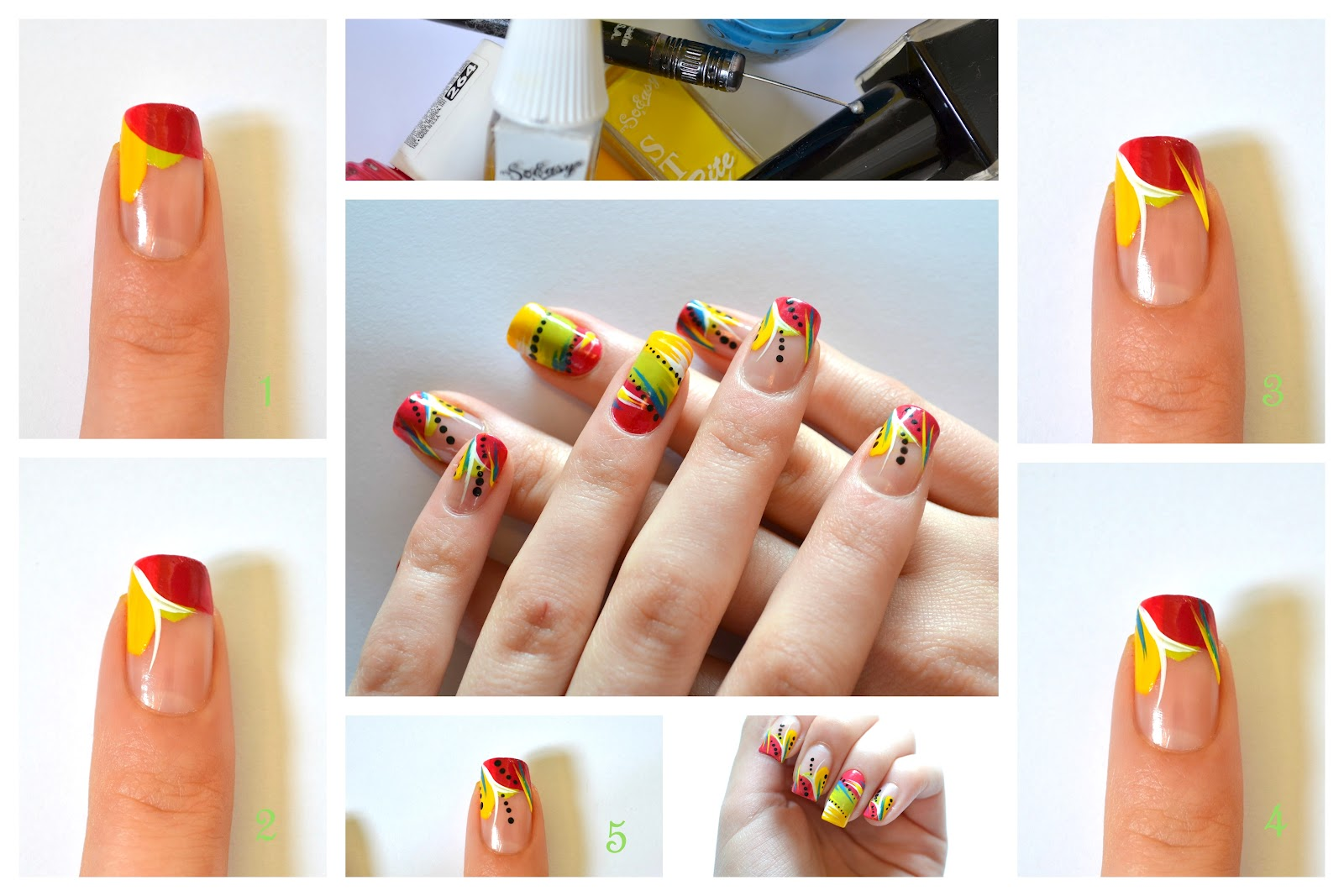 Nail art tutorial spring