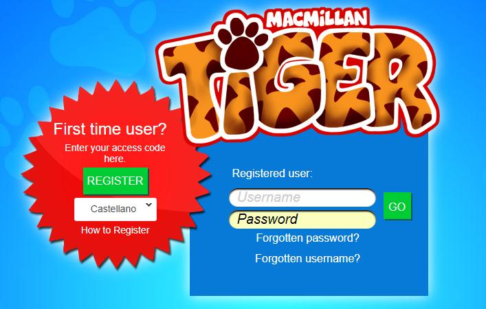Código de acceso y registro como usuario para Tiger Digital