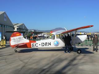 Avió remolcador de velers Cessna Bird-Doc vingut d'Igualada per l'exhibició.