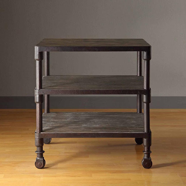 OVERSTOCK RENATE GREY END TABLE