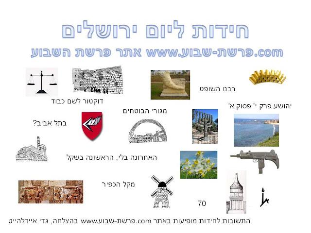 חידות ליום ירושלים
