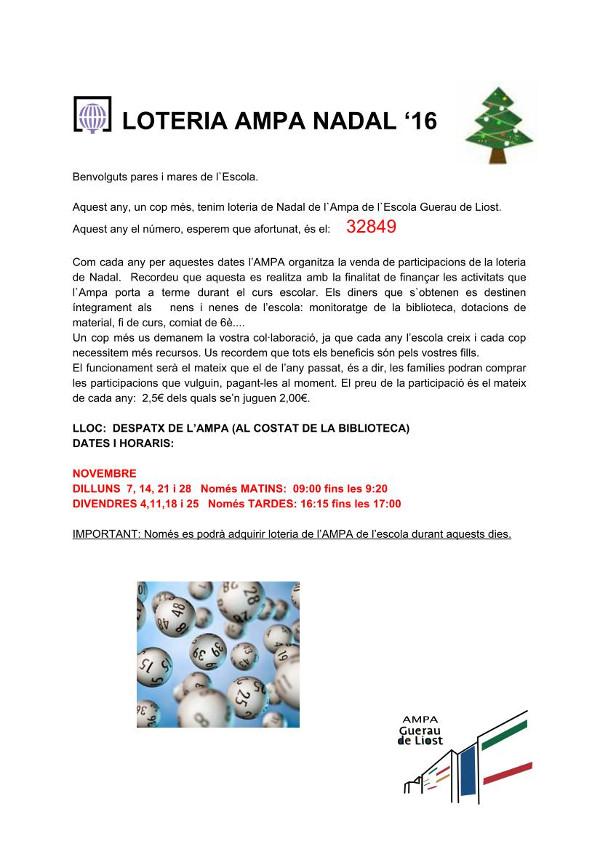 Circular Loteria AMPA 2106