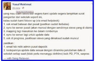 Penjelasan Bp Yusuf Rokhmat tentang claim siswa