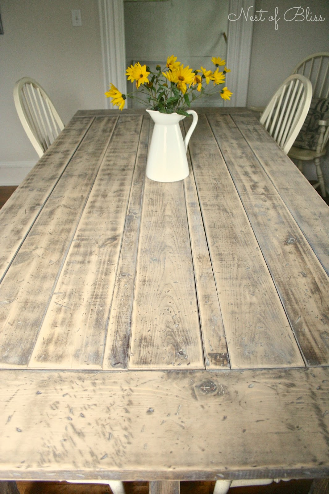 Diy rustic farmhouse table makeover nest of bliss