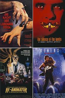 старые постеры фильмов ужасов афиши
