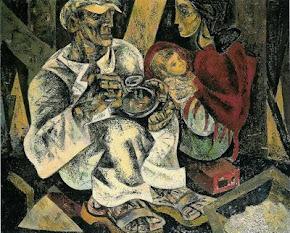 """O almoço do Trolha"" Pintura de Júlio Pomar"