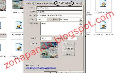 AudioShell - ID3 tag editor - Cara Mengganti Informasi dan Menambahkan Gambar pada File Musik MP3