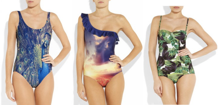 Swiming suit - Swiming wear - DESIGNER - 2012 collection - Fashion beach wear - two parts - one part