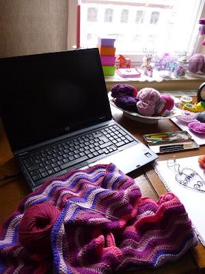 Häkeln im Quadrat: Mein kleines Atelier