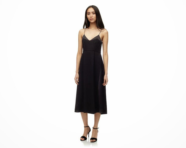 whistles black cami dress