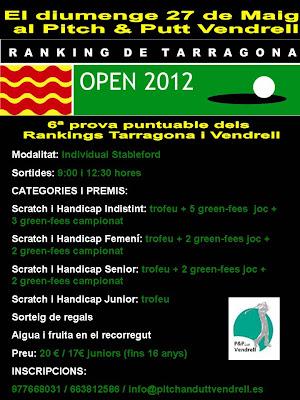 Ranking Tarragona 2012 al P&P El Vendrell