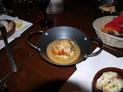 Tapas Barinn pan-fried monkfish with lobster sauce