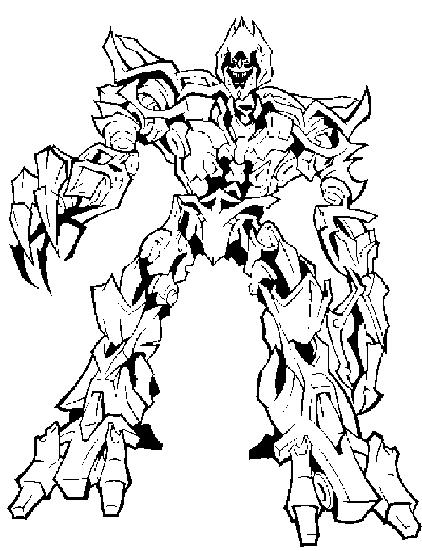 transmissionpress: Transformer Coloring Pages for Kids