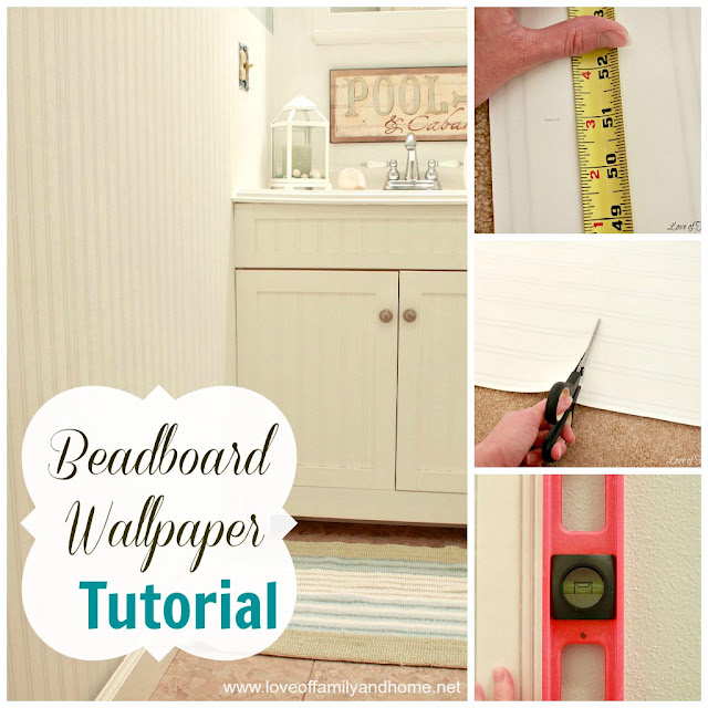 Beadboard Wallpaper Tutorial