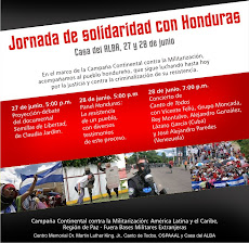 Jornada Continental de Solidaridad con Honduras 2011