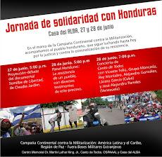 Jornada Continental de Solidaridad con Honduras 2011