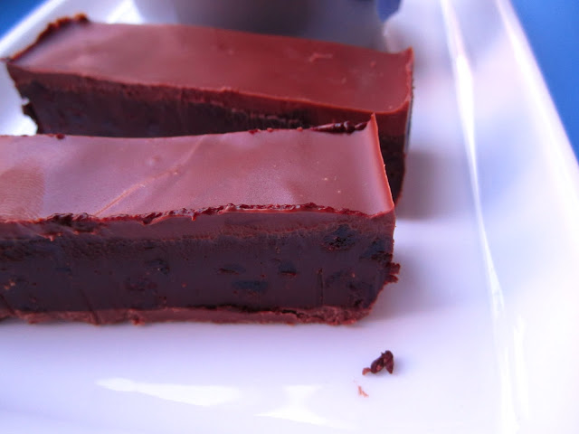 Schokoladen-Orangen-Schnitten mit Cranberries