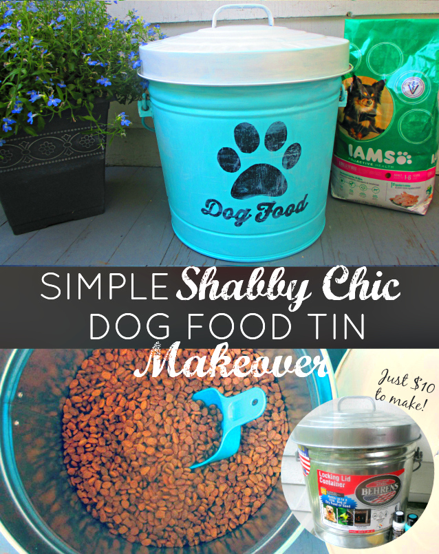Simple DIY Shabby Chic Dog Food Tin Makeover #1StopPetShop IAMS Target One Savvy Mom onesavvymom blog