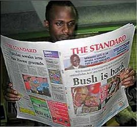 Standard Newspaper scoops Nation Newspaper's top reporters