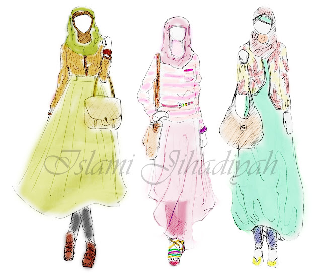 PETITE YEOJA ♡♡♡: Hijab Fashion Sketch