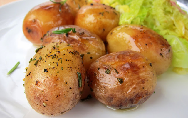 pressure cooker potatoes roasted and easy
