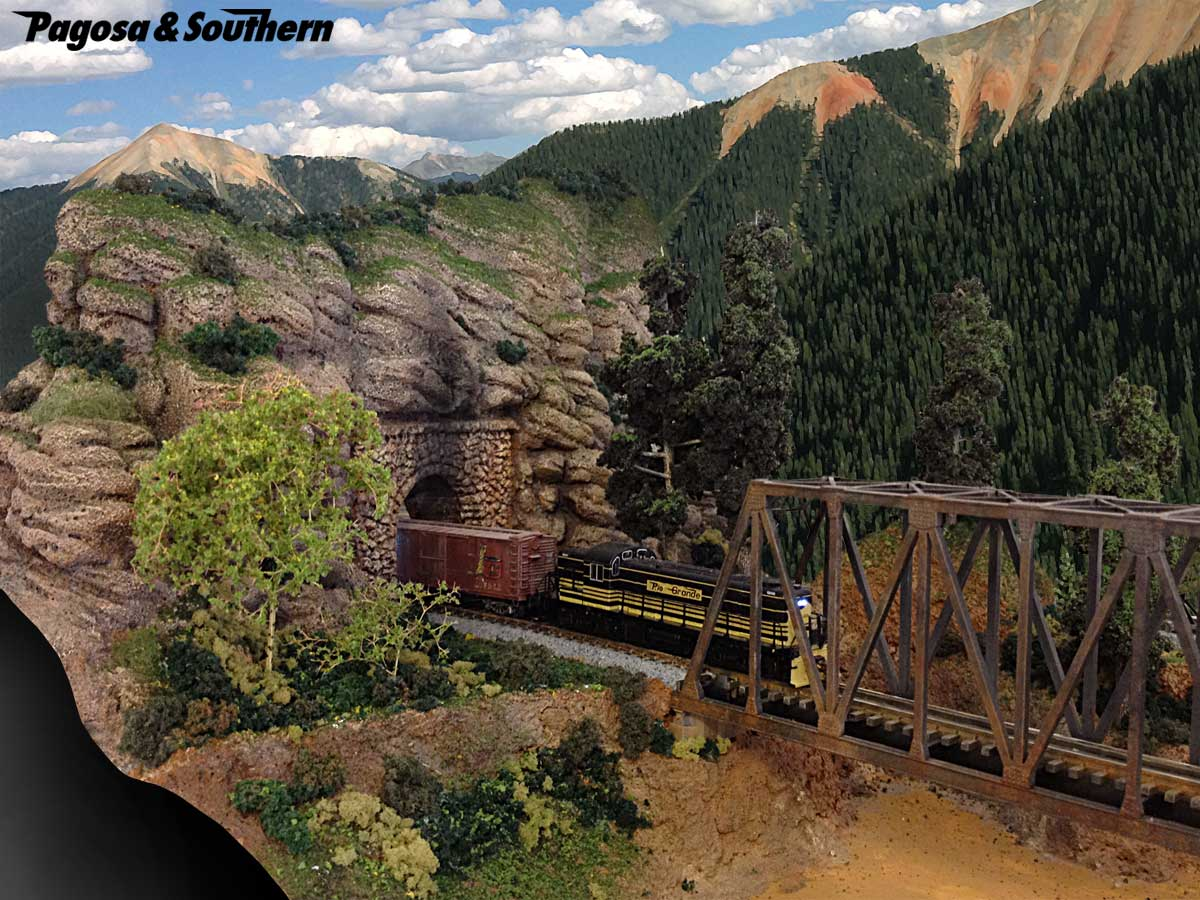 Thunder mesa mining co.: foam scenery on the n scale pagosa & southern