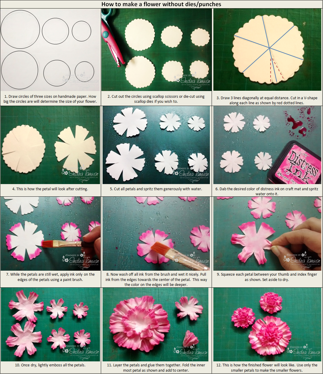 The Pictorial Below Gives Detailed Step By Instructions To Make Flower