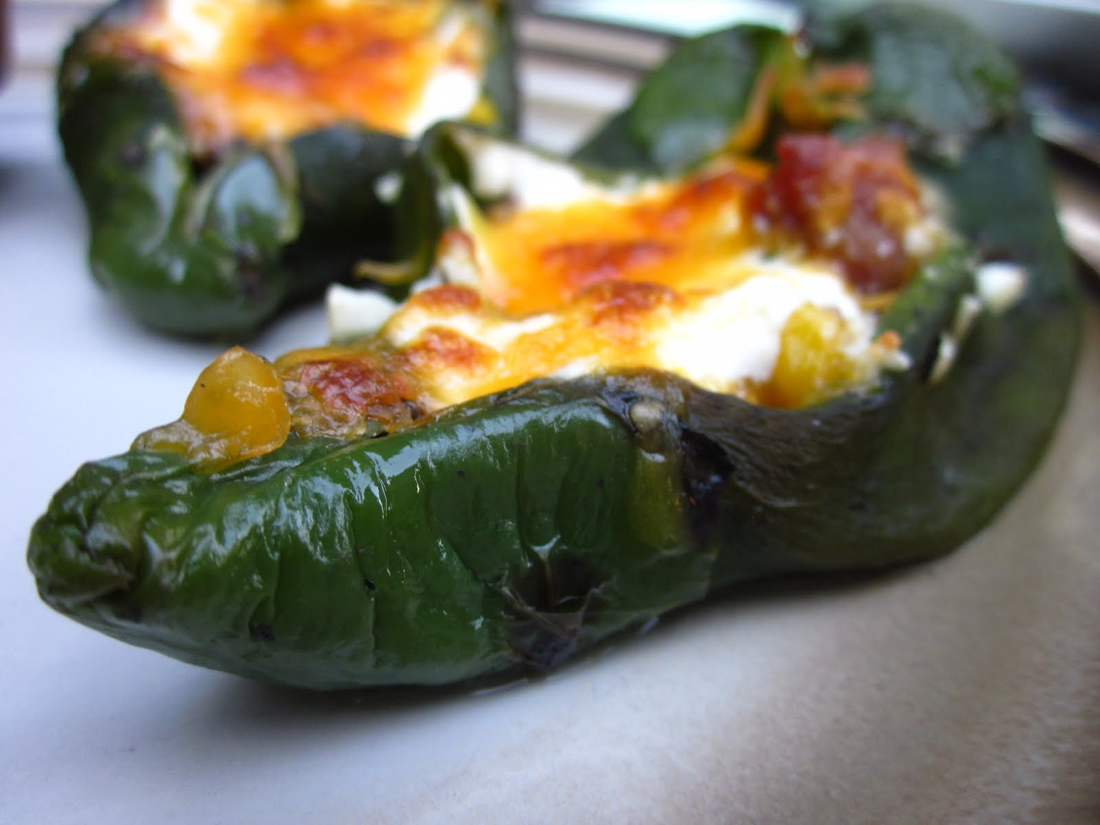 Pastry Prose: Baked Chile Rellenos with Corn and Crema