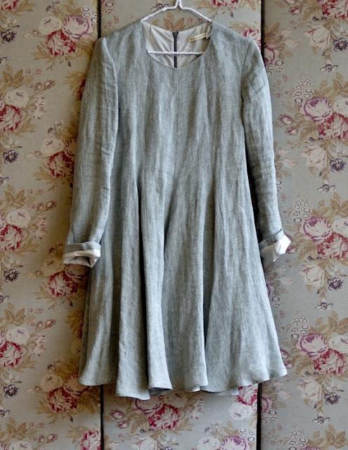 full circle linen dress