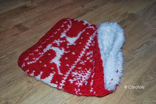 snood Noël tricot jacquard carofoliz