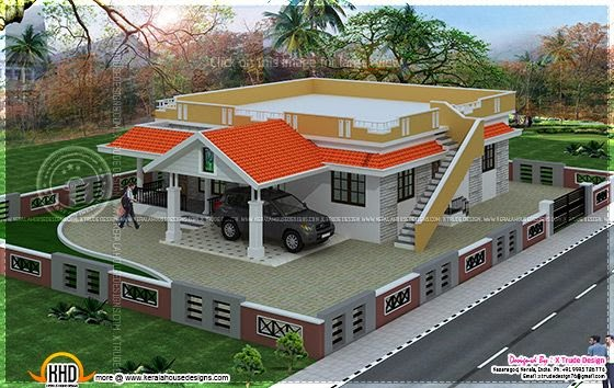 Single floor house 1615 sq-ft