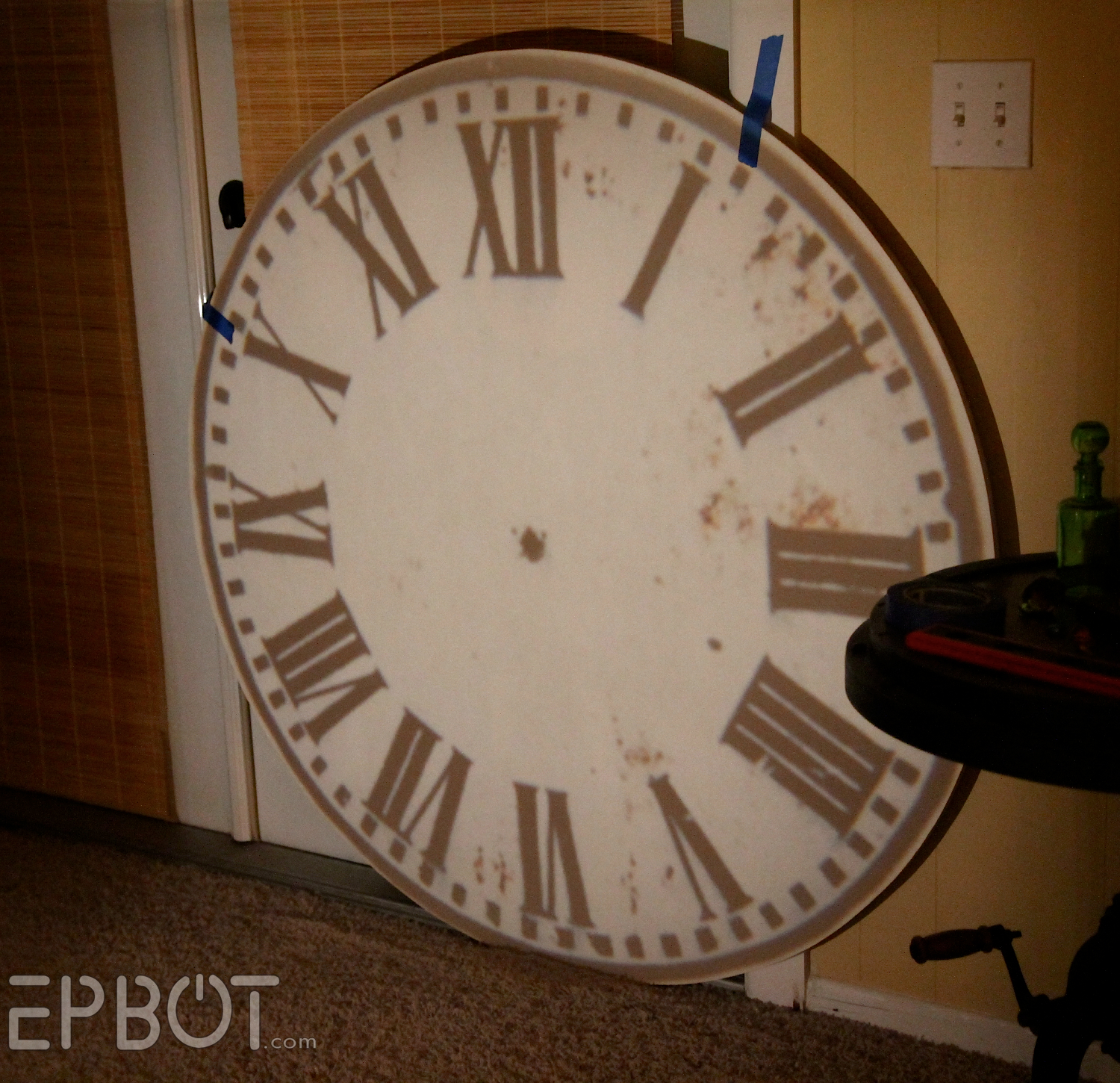 Epbot diy giant tower wall clock getting the projection perfectly aligned and centered is tricky ours ended up being just slightly off so take your time and make sure its as perfect as amipublicfo Images