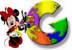 Alfabeto de Minnie Mouse pintando G.