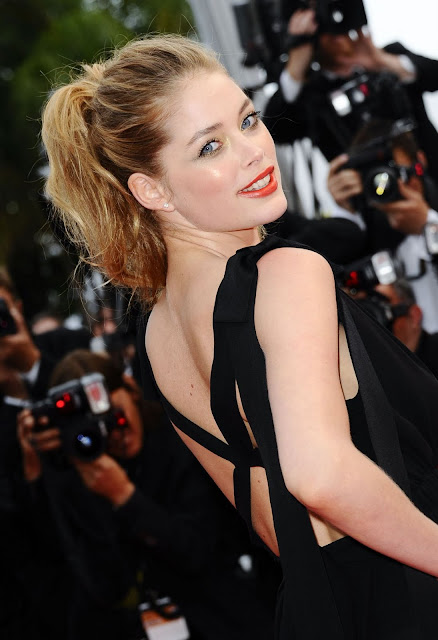 Dutch Hot Model Doutzen Kroes In Sexy Black Pics At 2011 Cannes