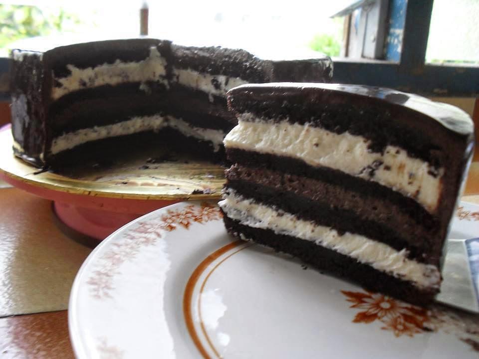 Double Indulgence Choc. Cake