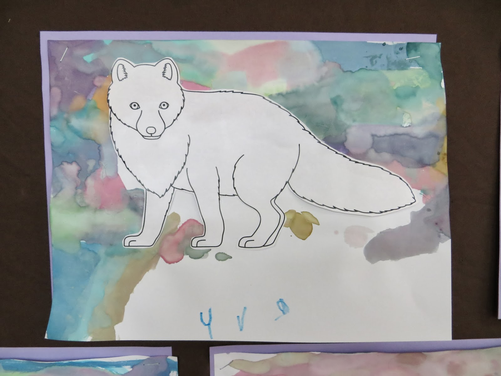 and others preferred pasting a white arctic fox on their painting