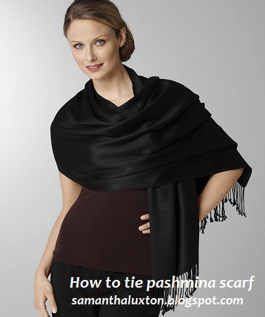 How to tie pashmina scarf