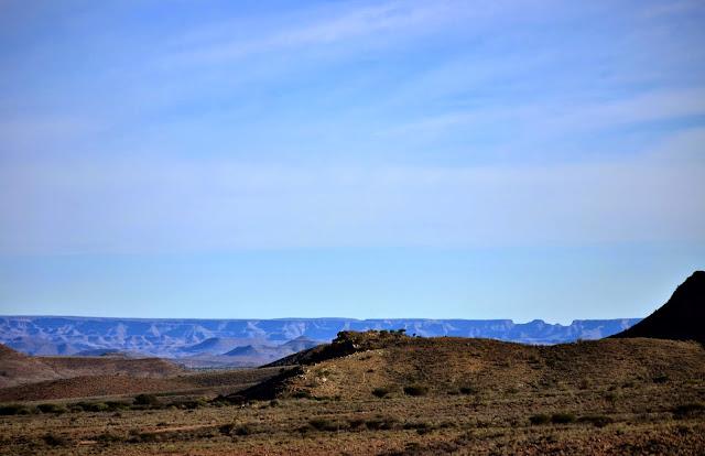 Namibian mountains landscape