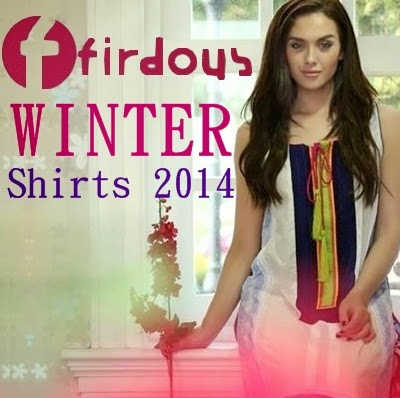Firdous Winter Exclusive Shirts 2014