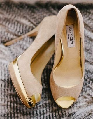 Beige High-heel Shoes