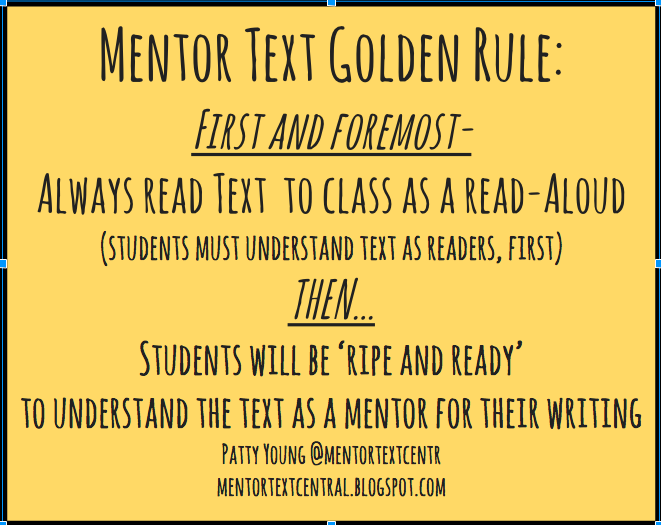 My Mentor Text Golden Rule!