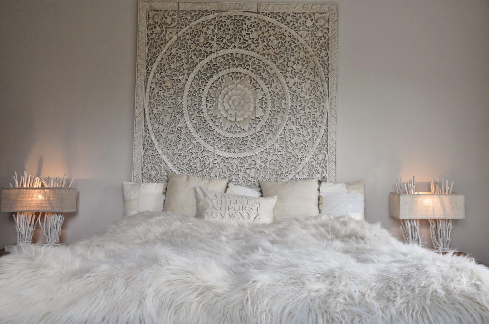 Den vita drömgården: master bedroom i vitt