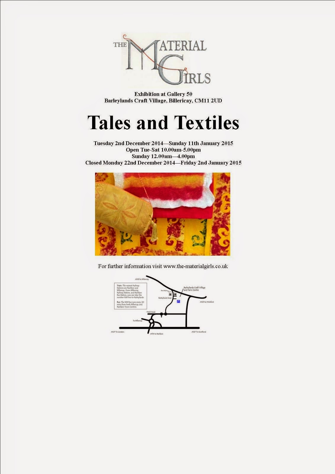 Tales and Textiles Exhibition