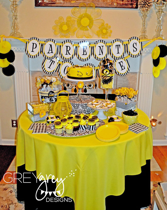 Bee Party Favors Bumble Candy Table