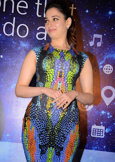 Actress Tamannaah  Picture in Short Dress at Celkon Mobile OCT A510 Launch  130.JPG