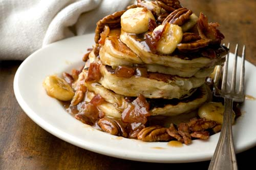 Banana, bacon, and pecan pancakes | Homesick Texan