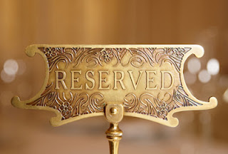 A hotel tag saying Reservation