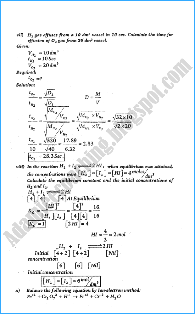 xi-chemistry-numericals-solve-past-year-paper-2015