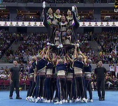 UAAP Cheerdance Competition 2013 - NU Cheer Squadron wowed with this pyramid