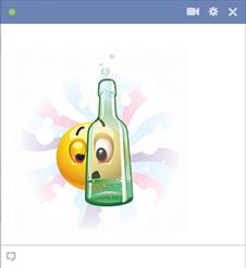 Drunk emoticon